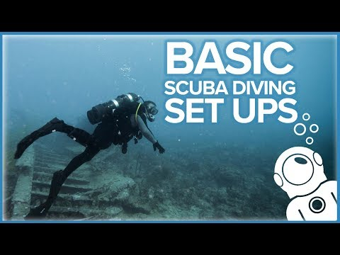 Basic Scuba Diving Set Ups