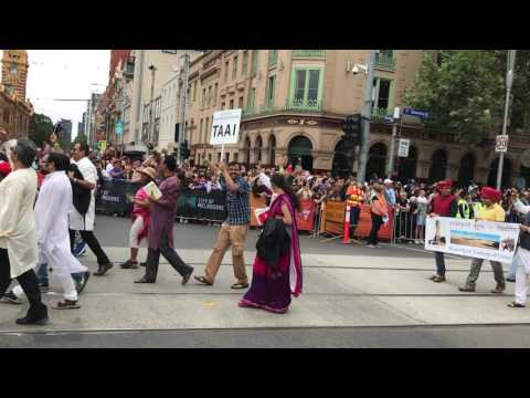Victorian Indian Community parade in Melbourne on Australian Day 2017