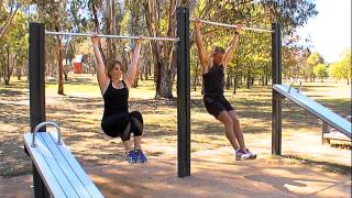 Hanging leg raises - John Knight Memorial Park