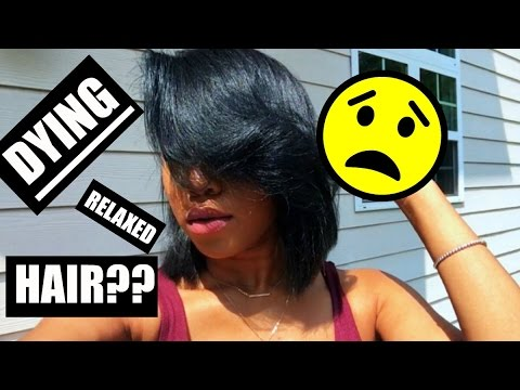 DYING RELAXED HAIR?! | ESSNTL