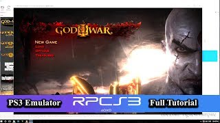 PS3 Emulator RPCS3 Full Tutorial (God of war 3) 2019