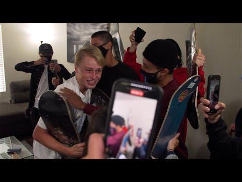 SURPRISE JAKE, YOU'RE PRO! Screaming Vlog 33 | Santa Cruz Skateboards