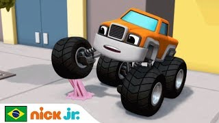 Blaze And The Monster Machines | Vídeo Musical 'Adesão' 🕸️ | Nick Jr. | Brazil | Português