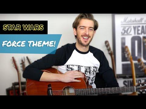 Star Wars Force Theme Guitar Tutorial - EASY Beginner Fingerstyle