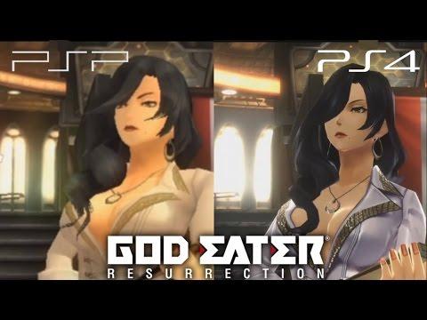 God Eater Resurrection PSP ve PS4 Graphics Comparison