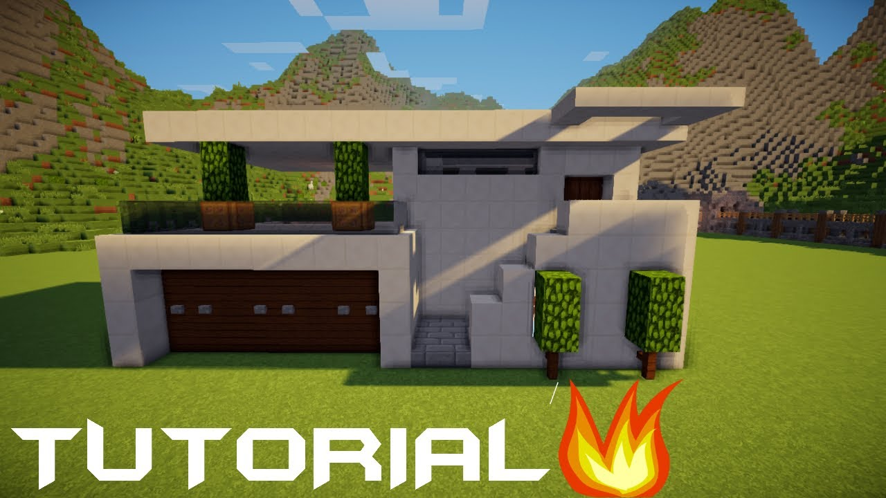 Minecraft Tutorial Cara Membuat Rumah Modern 5 Youtube