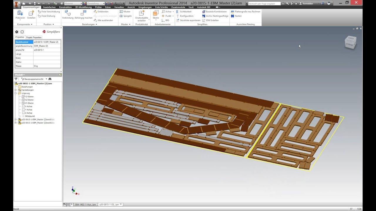 simple nesting die nesting software f r autodesk inventor youtube rh youtube com