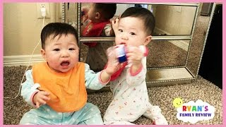 Twin Babies Fun Playtime with Ryan's Family Review!