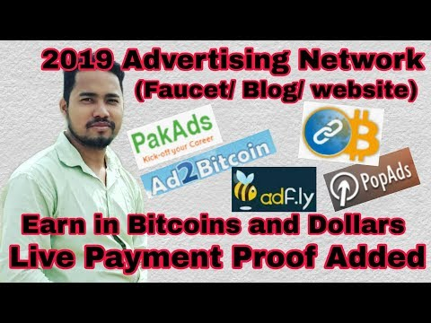 2019 Advertising Networks | Payments In Bitcoins & Dollars | Live Withdrawal Proof