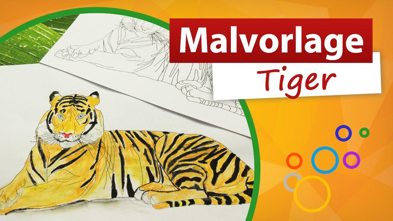 Malvorlage Tiger ✎ trendmarkt24 - Malvorlagen - YouTube