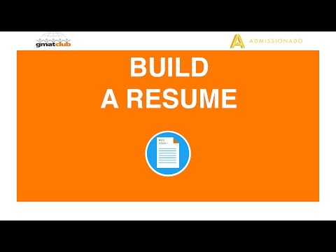 How to Build an MBA Application Resume - Admissionado