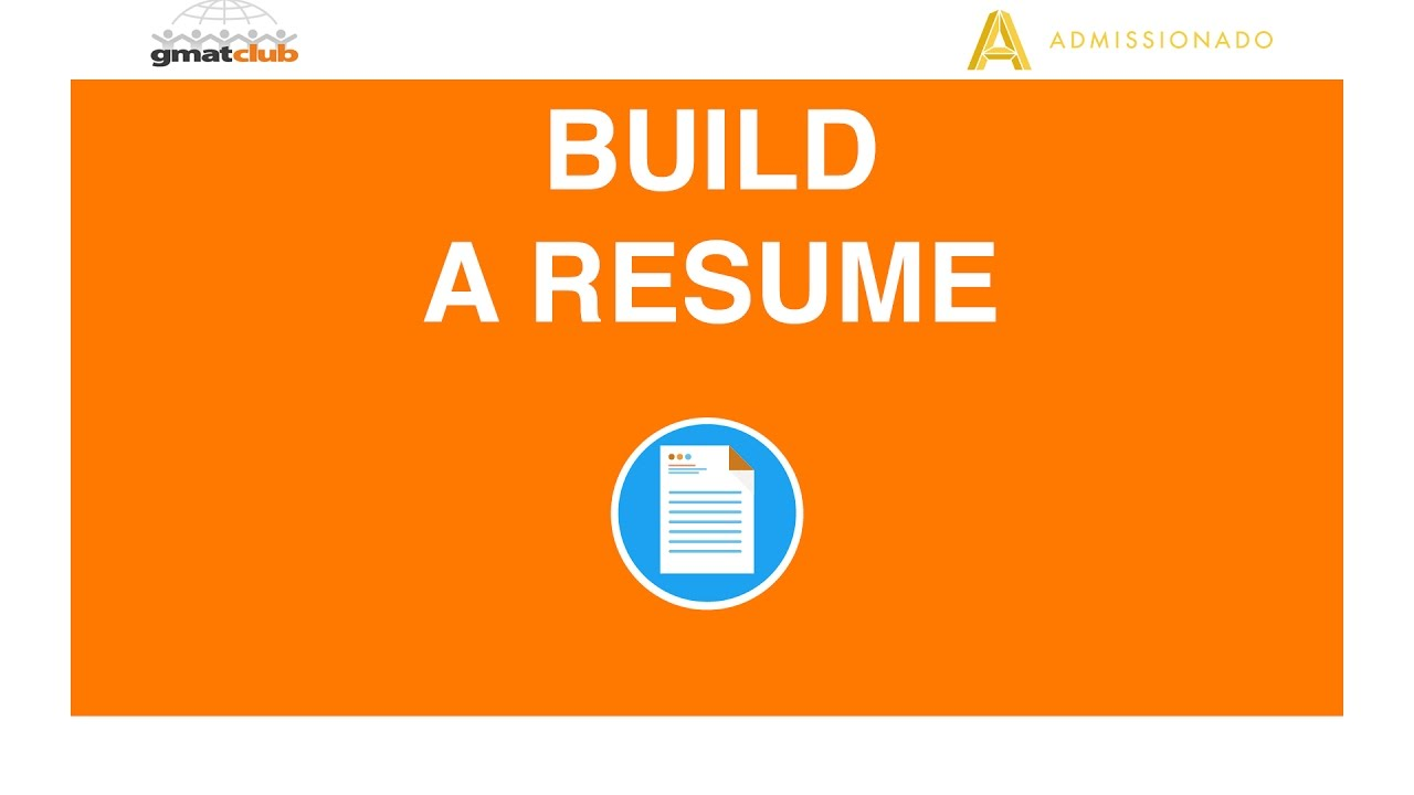 how to build an mba application resume admissionado