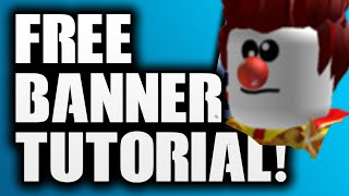 How to make a simple Banner of Roblox.. 💥 #roblox #banner #srbart