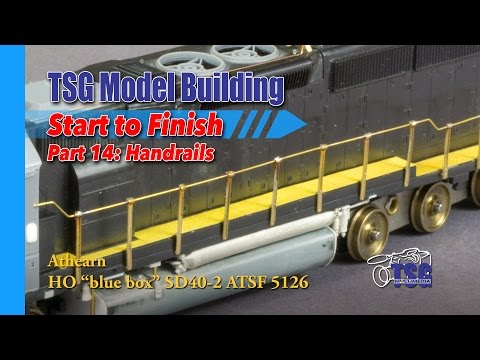 HO Scale Athearn SD40-2 Model Building 14 of 25 Hand Rails