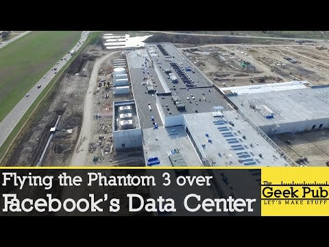 Facebook Data Center Drone Flyover
