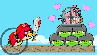 Angry Birds Heroic Rescue - MAD BIRDS FORCE OUT ALL PIGGIES TO RESCUE GIRLFRIEND!