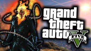 GTA 5 Mod Indonesia - GHOST RIDER bakar Los Santos jadi Abu