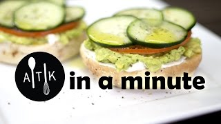 Amoretti In A Minute - Avocado Bagel Sandwich