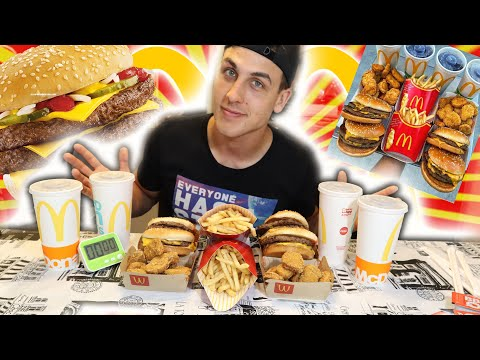 $3,500 MCDONALDS FOOD CHALLENGE IN 90 MINUTES CHEAT DAY| EPIC EATS Ep. 5
