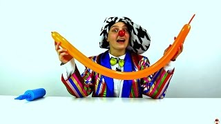 Funny videos for Babies. Clown makes balloon anima...
