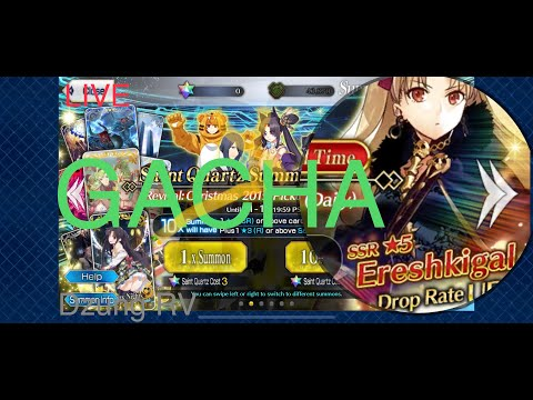 Live Gacha Ereshkigal Christmas 2019 Pickup Summon Fate Grand Order Fgo Na Youtube