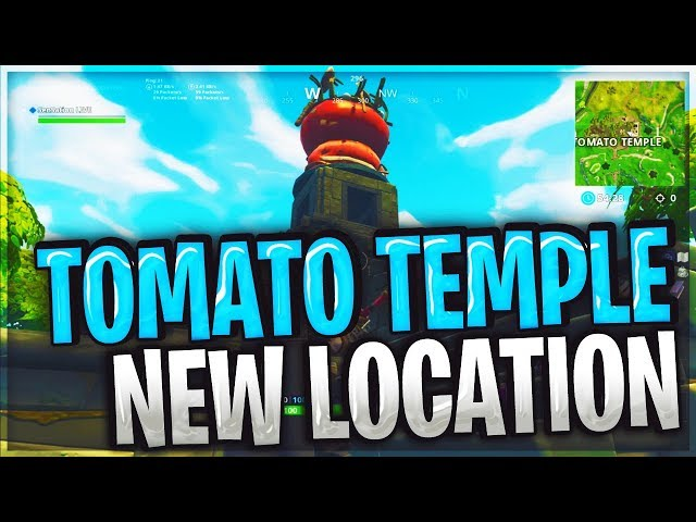 NEW TOMATO TEMPLE MAP LOCATION LIVE GAMEPLAY / FORTNITE BATTLE ROYALE