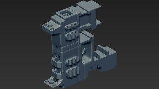 Zbrush4R8 Live Boolean Gun Modeling