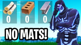 Winning in fortnite but with NO MATS... (very hard)