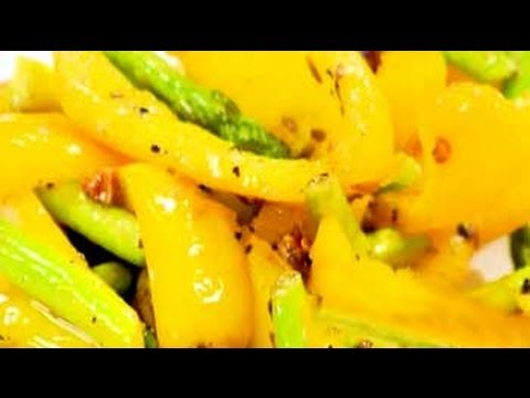 Yellow Pepper with Asparagus
