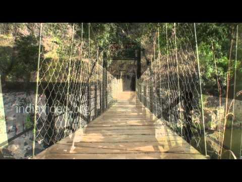 Kunthi Hanging Bridge in Silent Valley, Palakkad