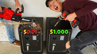 FIRST TO BREAK OPEN MYSTERY SAFE WINS WHATS INSIDE!