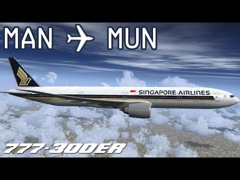 [FSX] Manchester to Munich | SIA327 | Singapore Airlines | PMDG 777-300ER | IVAO