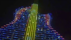 Incredible light show thrills fans at Hard Rock Hotel opening