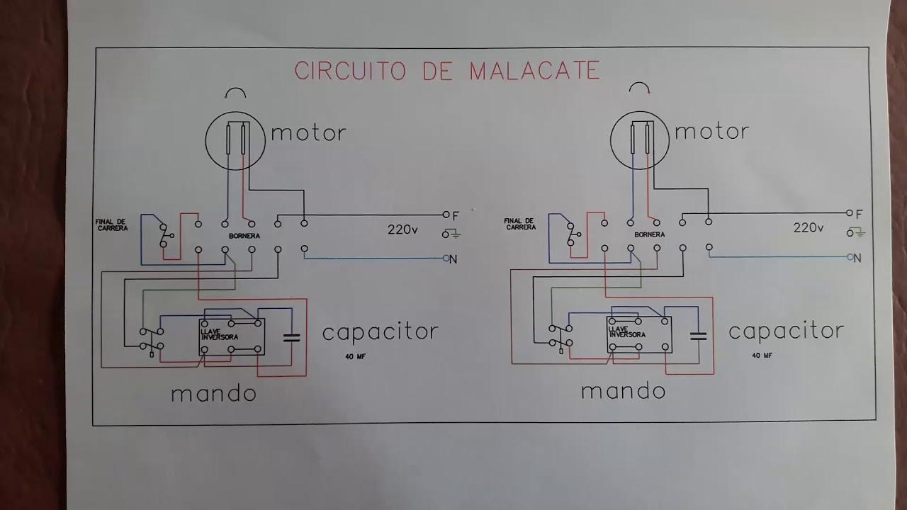 cicuito electrico de aparejo montarga