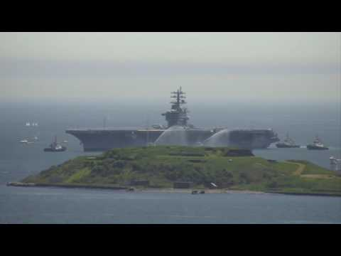Timelapse of USS Dwight D. Eisenhower entering Halifax Harbour