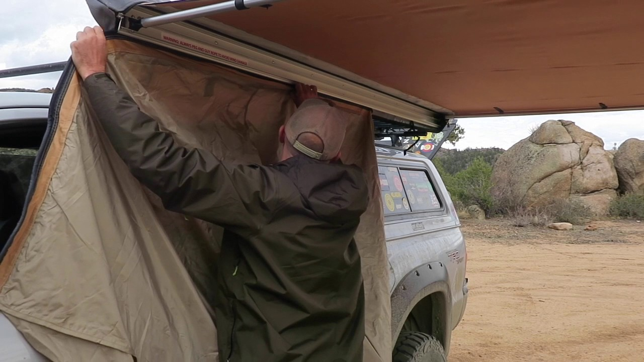 Truck Camping Arb 2500 Drop Down Room Set Up Youtube