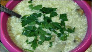 Грибной суп с зеленой чечевицей. Просто пальчики оближешь!