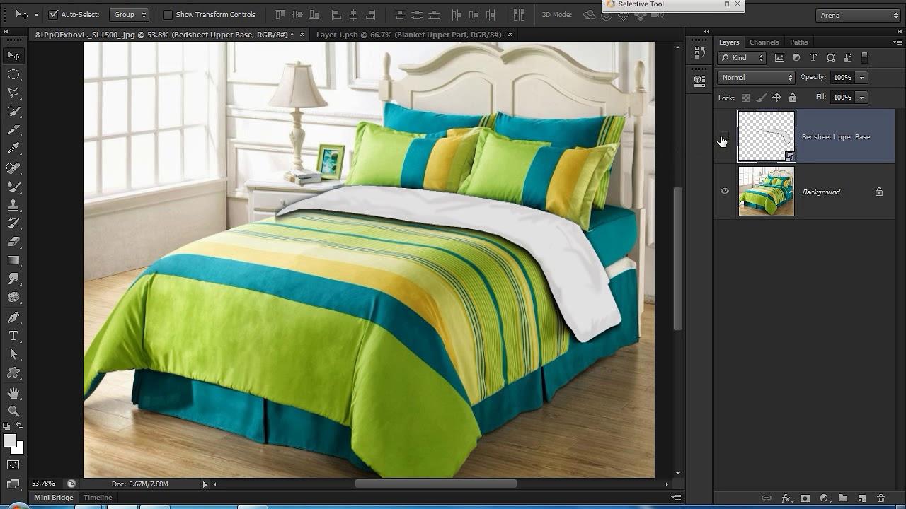 Bedsheet Mockup In Photoshop Youtube