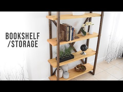 How To Build A Rustic Bookshelf - Storage & Organization