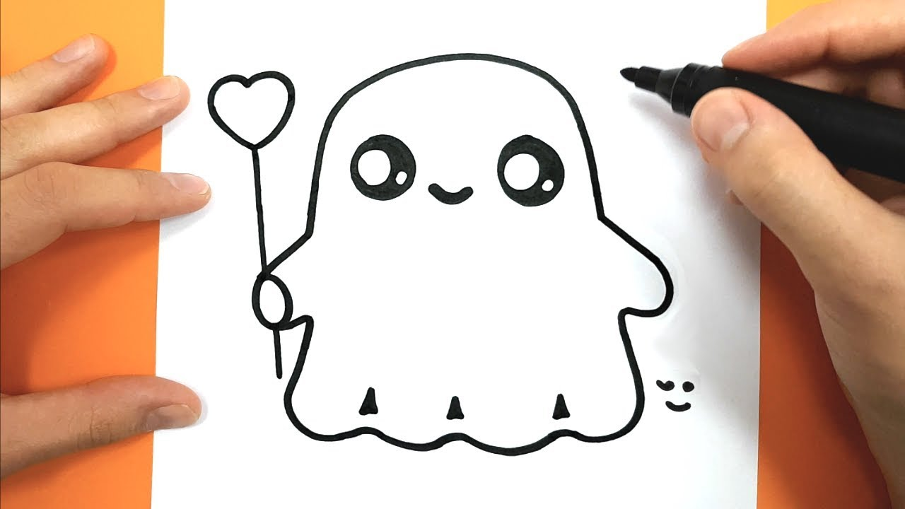 How to Draw and color a cute ghost - Easy Drawing Tutorial ...