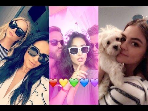 Shay Mitchell | ft. Nick Jonas & PLL Cast | Snapchat Videos | June 2016