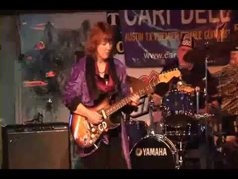 Female lead guitarist plays Santana Europa