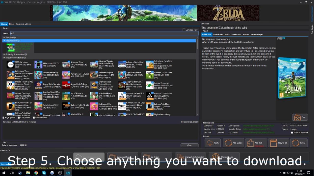 Downloading games with Wii U USB Helper & Cemu 1 7 3d