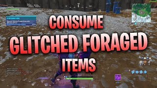 CONSUME GLITCHED FORAGED ITEMS WITH DIFFERENT EFFECTS - FORTNITE A METEORIC RISE SEASON 10