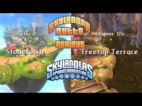 SkylanderNutts Replays Spyros Adventure (Ch 9 - Stonetown and Ch 10 - Treetop Terrace)