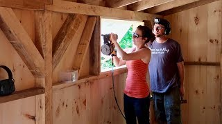 Couple Builds Post & Beam DREAM BARN (Installing Windows and Trim Work)