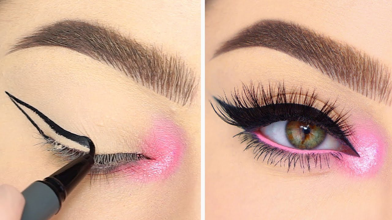 9 Best Eyes Makeup Tutorials and Ideas for Your Eye Shape & Eyeliner Tips   Compilation Plus