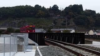 2018/11/18 普通列車(キハ220)走行@光岡~日田間(花月川橋梁)