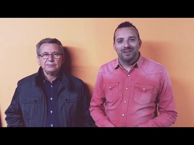 David Carrasco charla con Leo Rubio antes de su actuación con Nuestros Findes