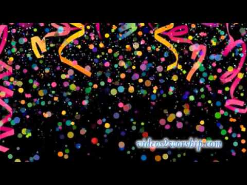 falling confetti and streamers motion loop youtube